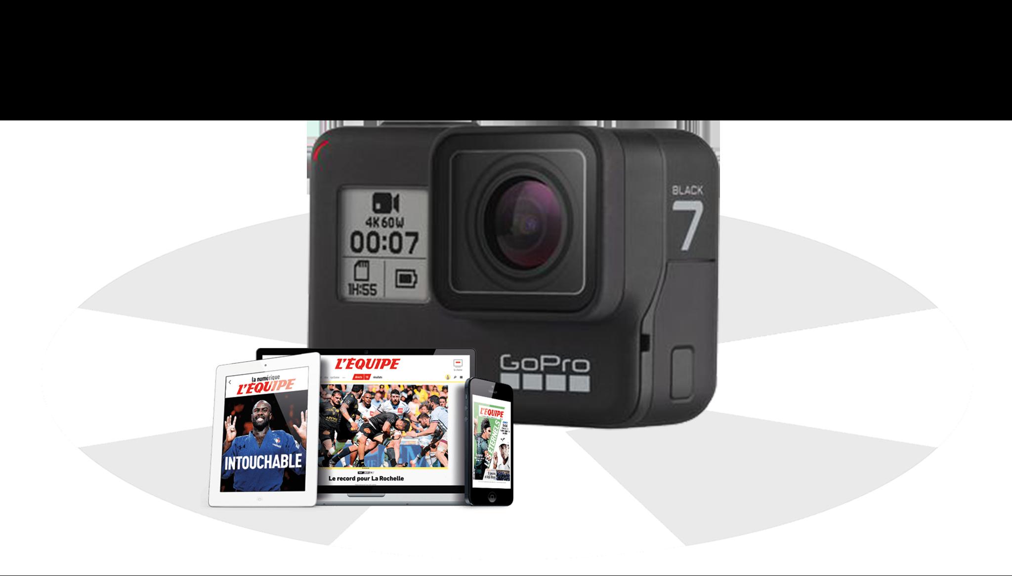 Code promo L'Équipe : 1 GoPro Hero7 et 1 abonnement à l'Équipe à gagner