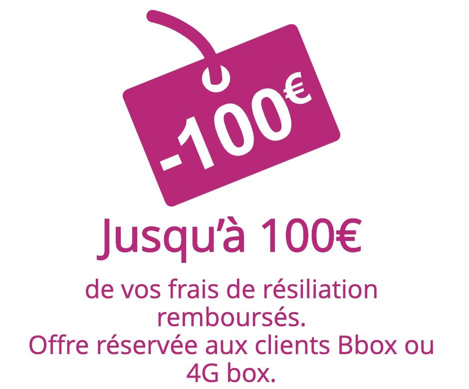 Code promo Bouygues Telecom : Jusqu'à 100€ remboursés sur les frais de résiliation de votre ancien Fournisseur d'Accès Internet