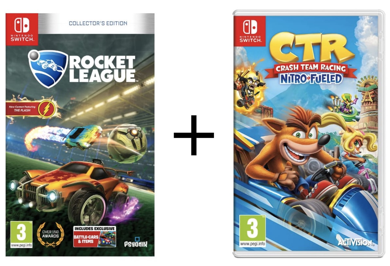 Code promo Auchan : Rocket League Collector's Edition sur Nintendo Switch + Crash Team Racing à 49,99€