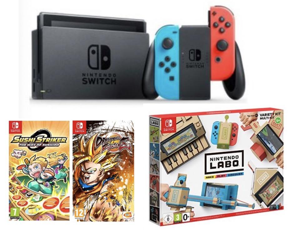 Code promo Fnac : -160€ sur la Nintendo Switch + Dragon Ball FighterZ + Sushi TStriker + Nintendo Labo