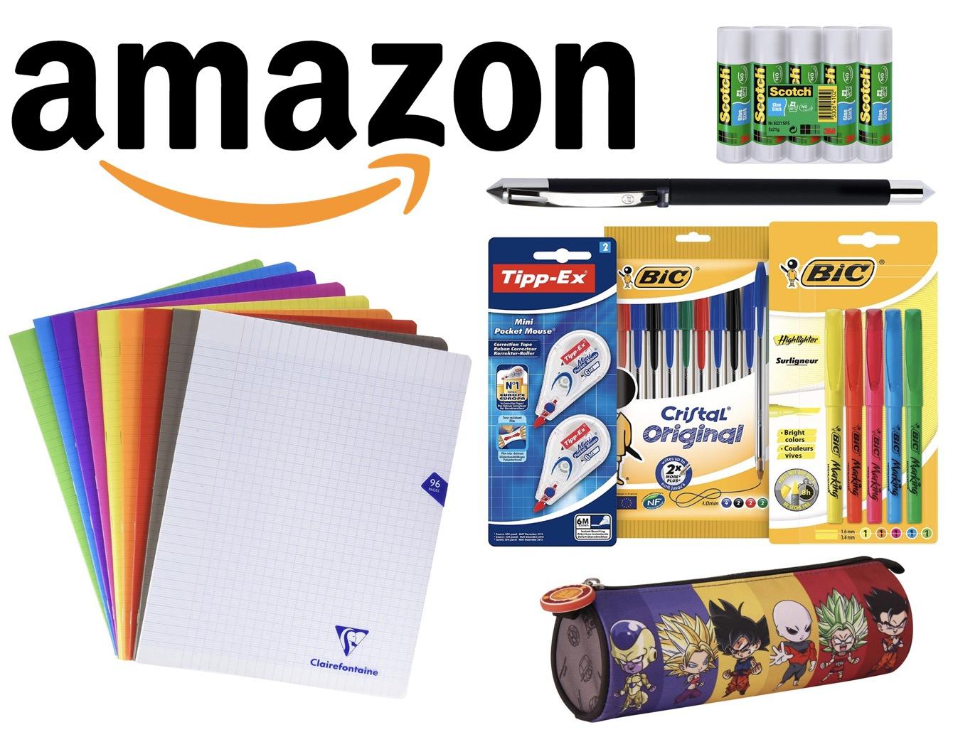 Code promo Amazon : 5€ offerts par tranche de 30€ d'achats sur une sélection de fournitures scolaires