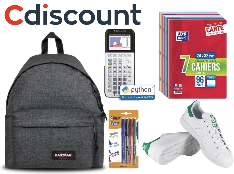 Code promo Cdiscount : 15% de réduction dès 50€ d'achat sur une sélection spéciale rentrée des classes