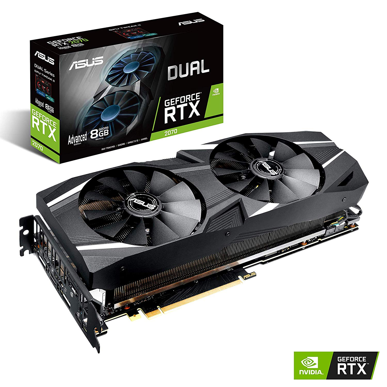 Code promo Amazon : Carte Graphique Asus Geforce Dual RTX2070-A8G avec 8GB de mémoire dediée