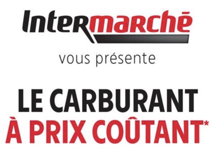 Code promo Intermarché : Opération carburant à prix coûtant chez Intermarché le 3 et 4 juillet