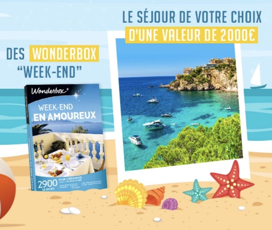 Code promo Family Village : 2 voyages au soleil pour 2 personnes au choix, 1 coffret Wonderbox Week-end à gagner