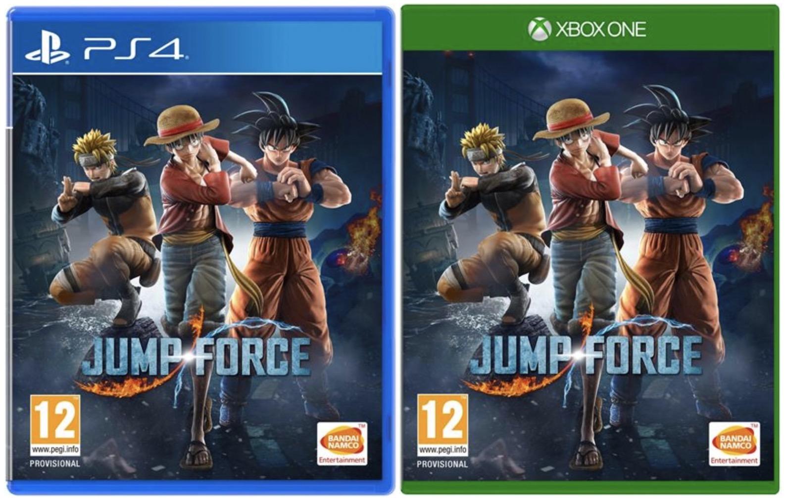 Code promo Fnac : Jump Force sur PS4 ou Xbox One à 39,99€