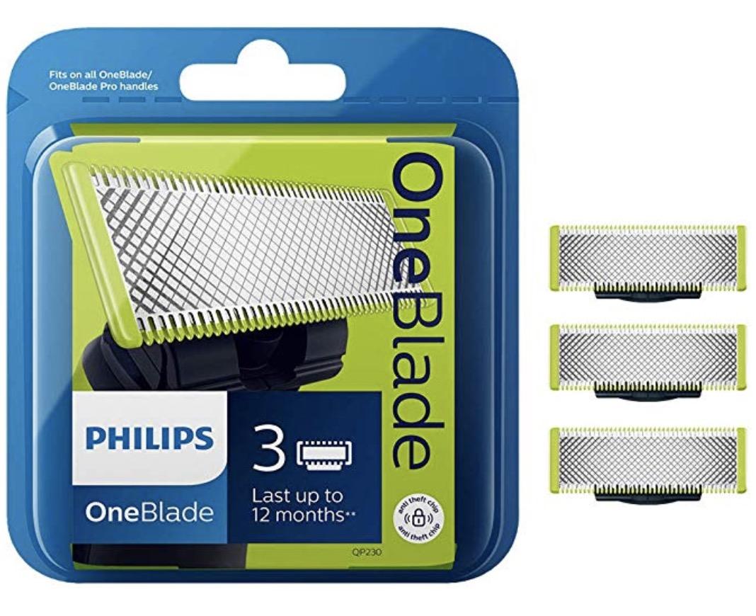 Code promo Amazon : [Prime] 3 lames de Remplacement OneBlade Philips QP230/50 à 18,99€