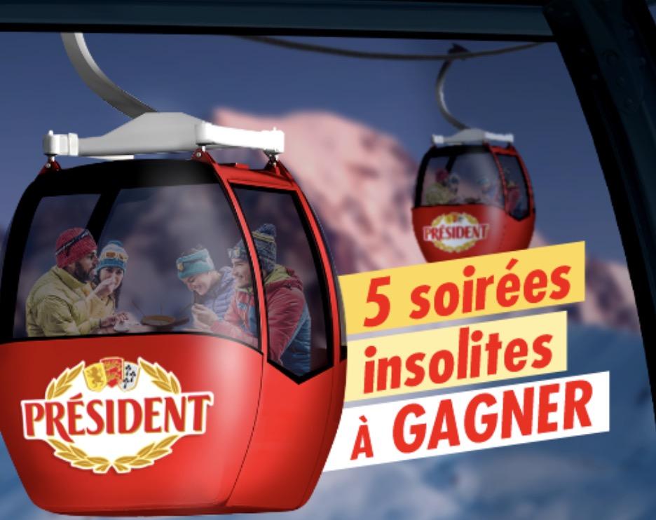 Code promo Président : 5 soirées insolites, 50 duos de raclettes à la bougie et 50 mini appareils à fondue à gagner