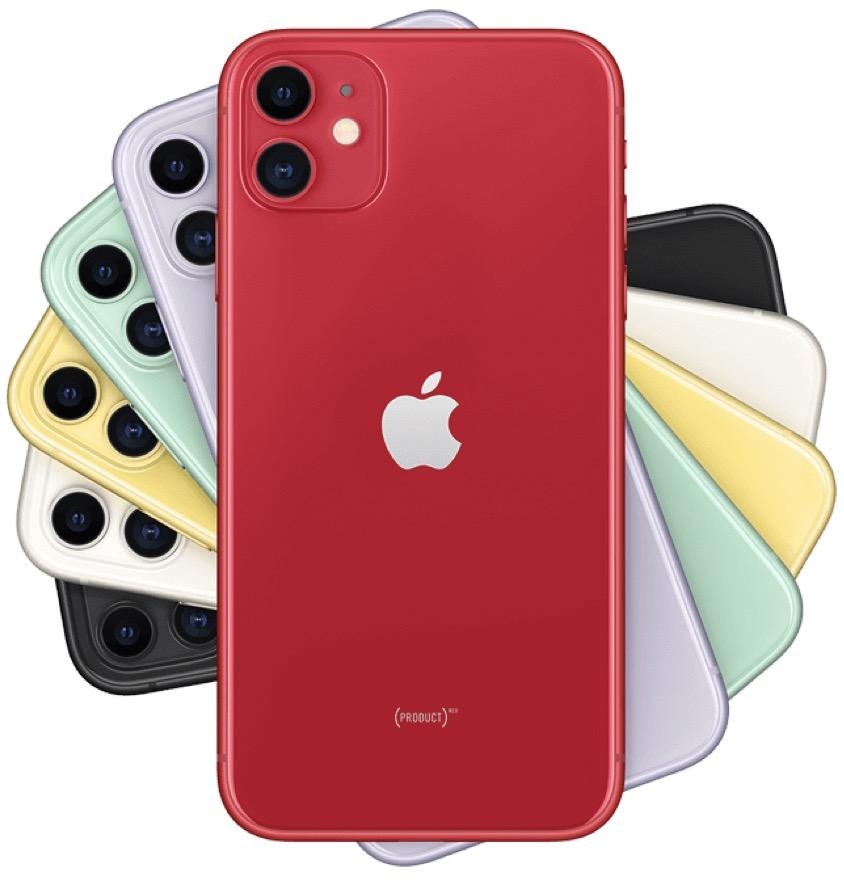 Code promo Rakuten : Apple iPhone 11 64Go (coloris au choix) à 736,59€ + 36,90€ offerts en bon d'achat