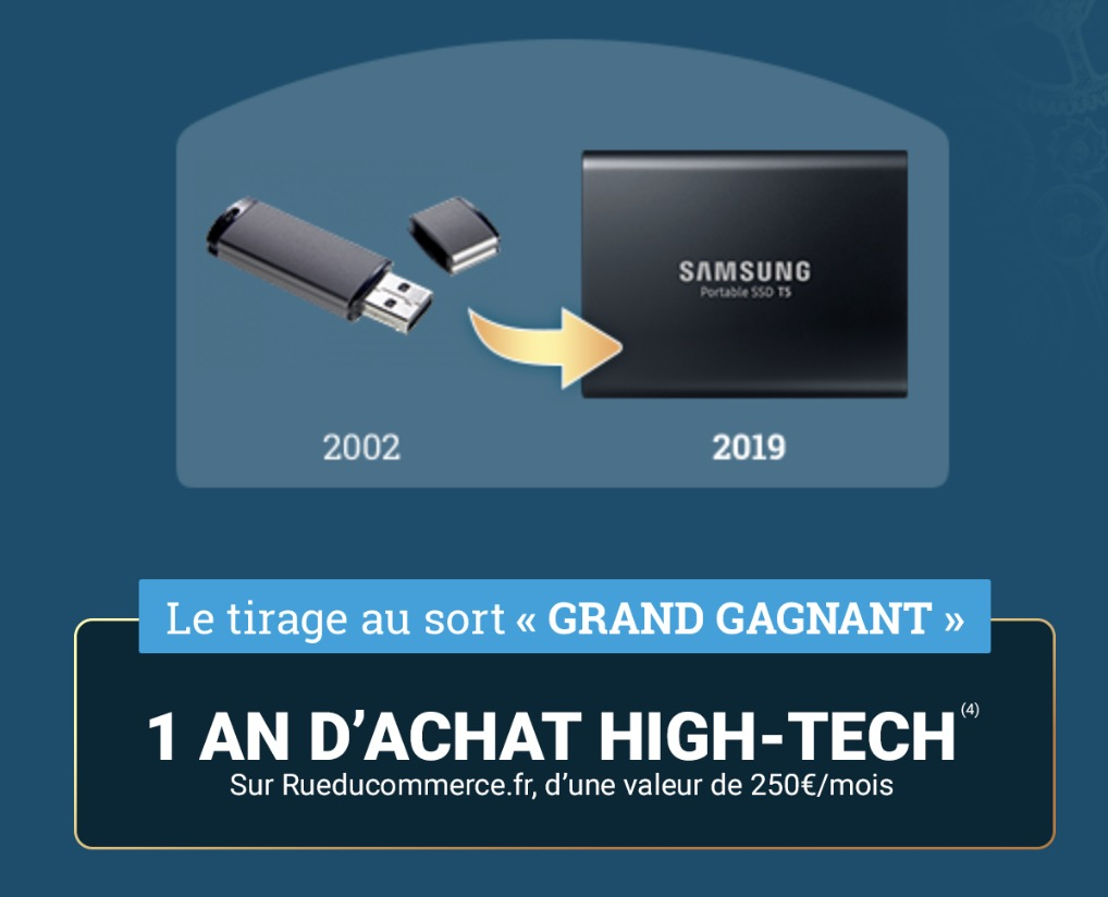 Code promo Rue du Commerce : 1 an d'achat de produits High Tech à gagner