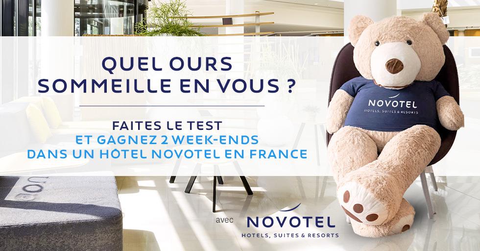 Code promo Psychologies Magazine : 2 week-end dans un hôtel Novotel en France à gagner