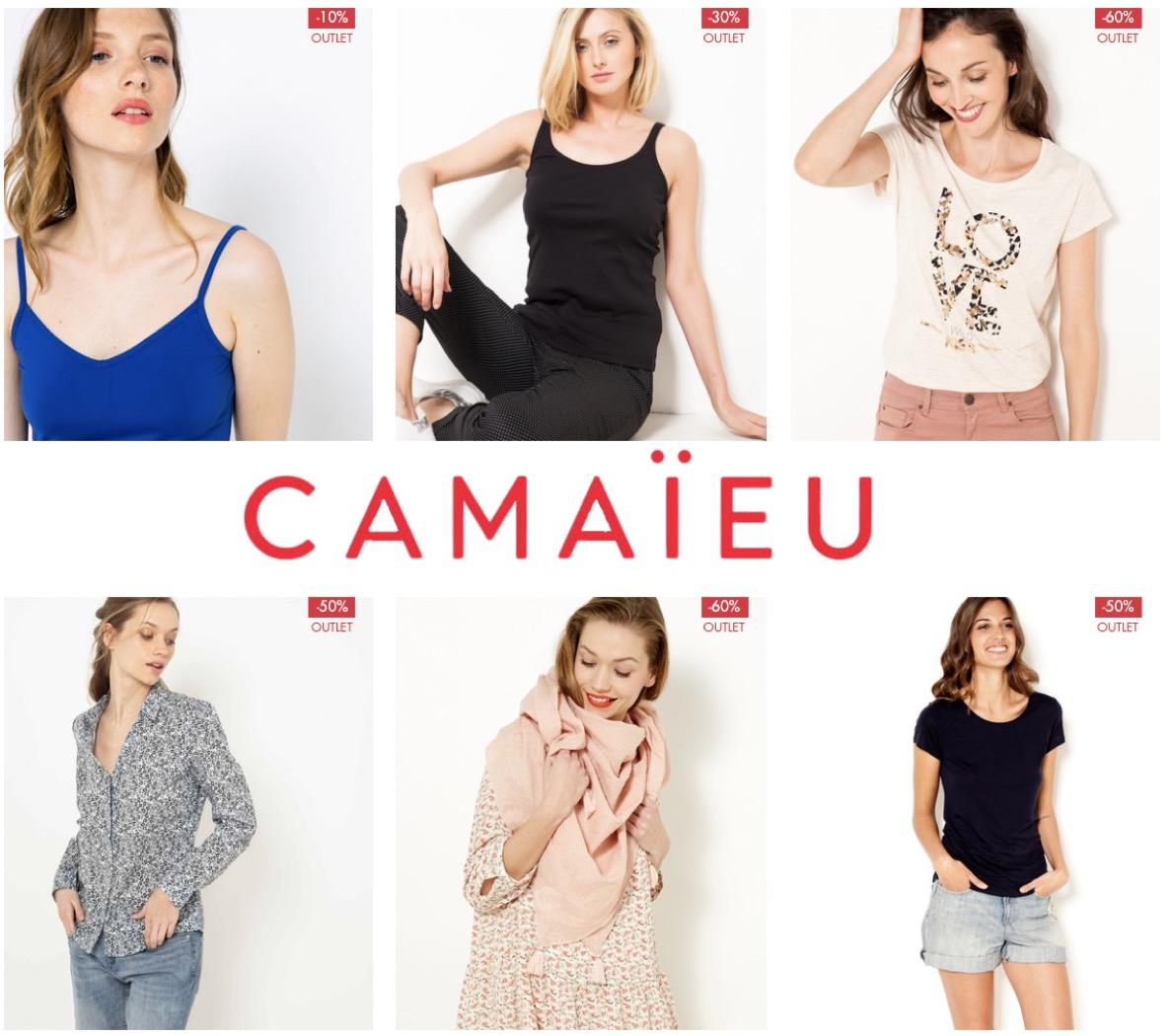 Code promo Camaïeu : Un article Outlet acheté = le 2ème à -50%