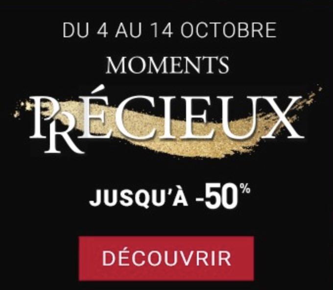 Code promo Histoire d'Or : [Moments Précieux] Jusqu'à -50% sur une sélection de bijoux et montres