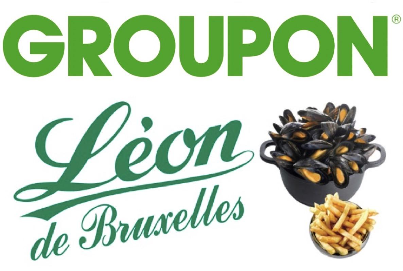 Code promo Groupon : Payez 1€ le bon de 12€ à valoir sur votre addition pour 2 chez Léon de Bruxelles