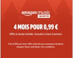 Amazon: 4 mois d'abonnement à Amazon Music Unlimited pour 0,99€ au lieu de 39,96€