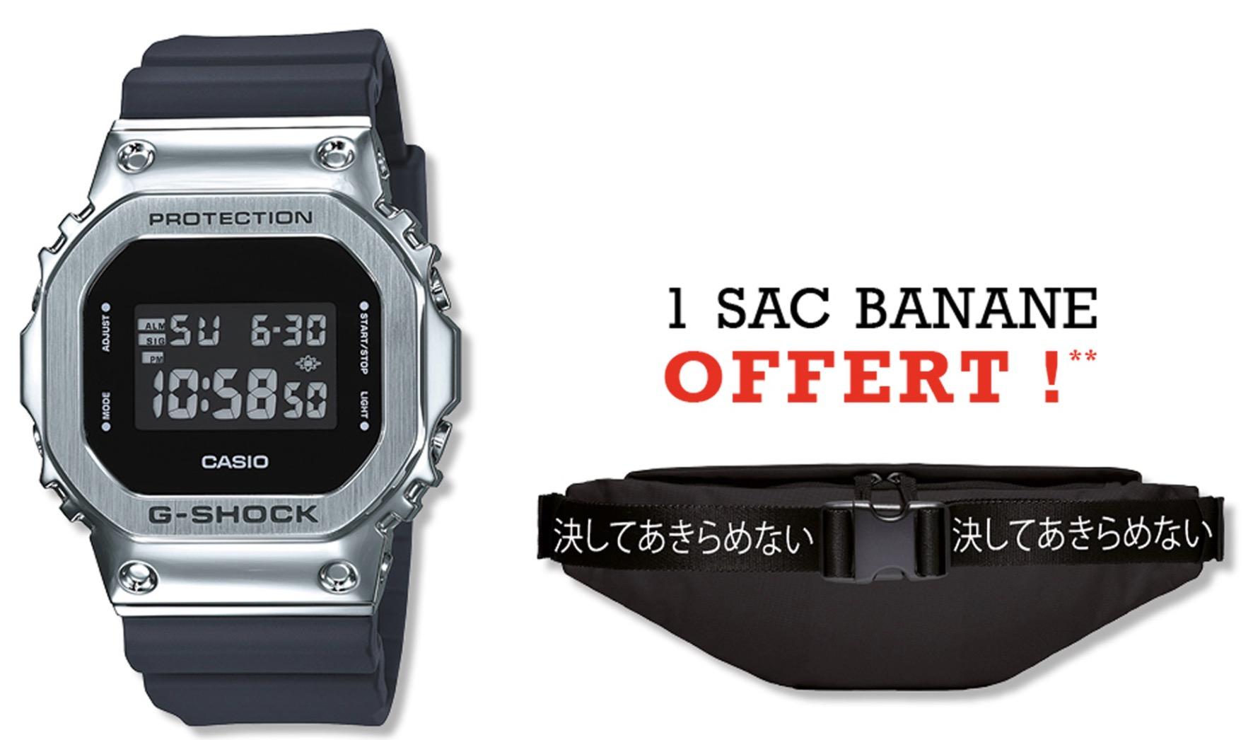 Code promo Montres & Co : 1 sac Banane offert pour l'achat d'une montre G-Shock