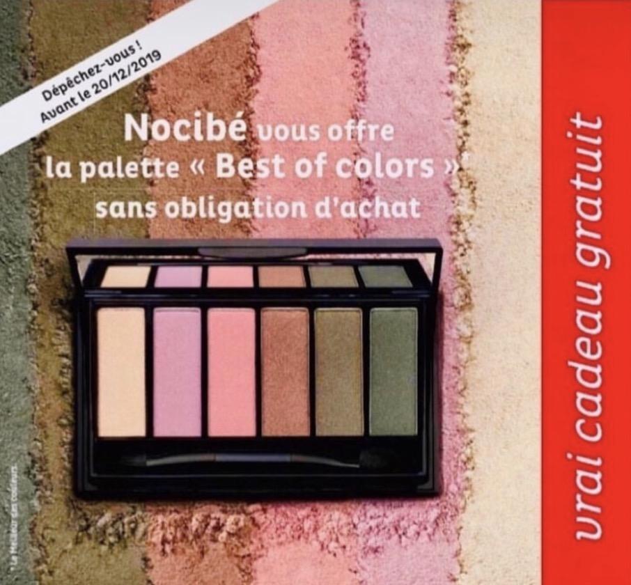 """Code promo Nocibé : La palette """"Best of colors"""" à récupérer en magasin sans obligation d'achat"""