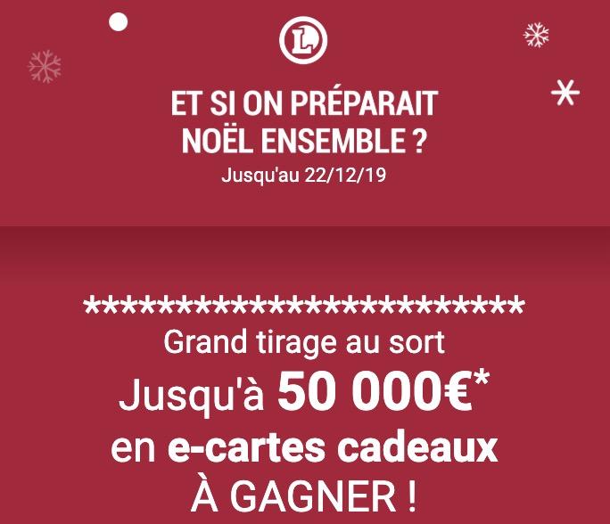 Code promo E.Leclerc : Jusqu'à 50 000€ en e-cartes cadeaux à gagner