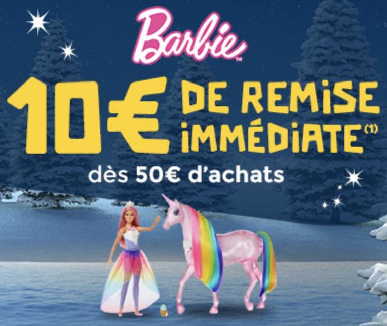 Code promo PicWicToys : 10€ de remise immédiate dès 50€ d'achat sur les jouets Barbie