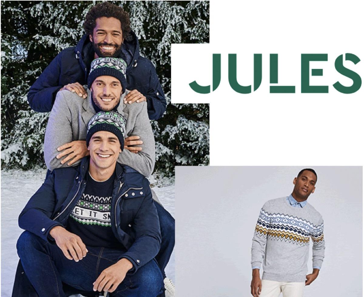 Code promo Jules : 50% de réduction sur le deuxième haut (pulls, chemises, polo)