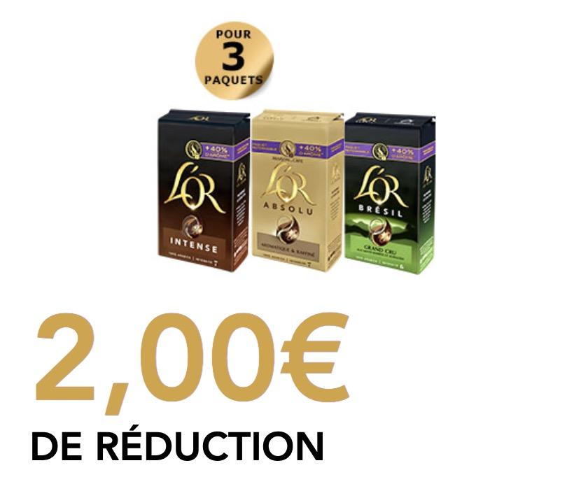 Code promo L'Or Espresso : Jusqu'à 200€ d'économie par an sur votre café avec les bons de réduction à imprimer du Club L'OR
