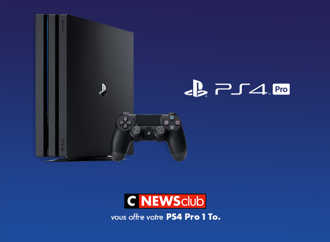 Code promo CNEWS : Une console Playstation 4 Pro 1To à gagner