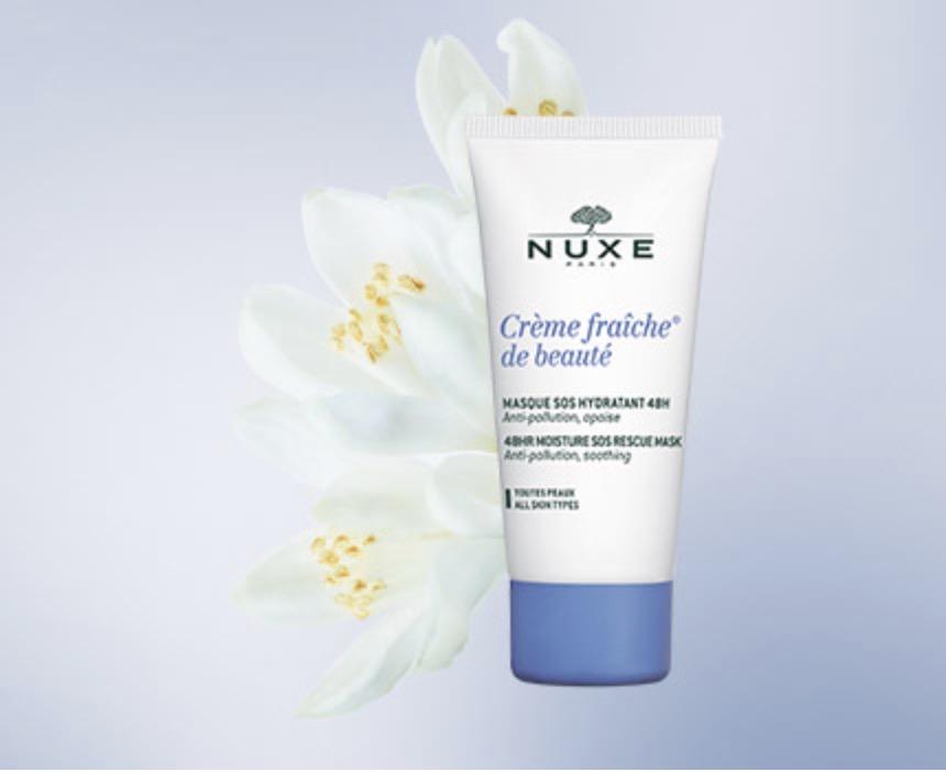 Code promo Nuxe : Un masque hydratant offert pour l'achat de deux soins visage dont un soin anti-âge