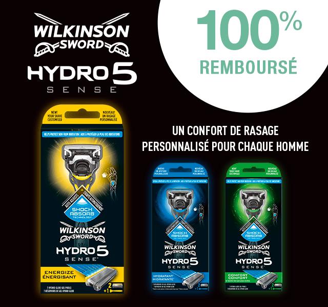 Code promo Wilkinson : Rasoir Wilkinson Hydro 5 Sense 100% remboursé