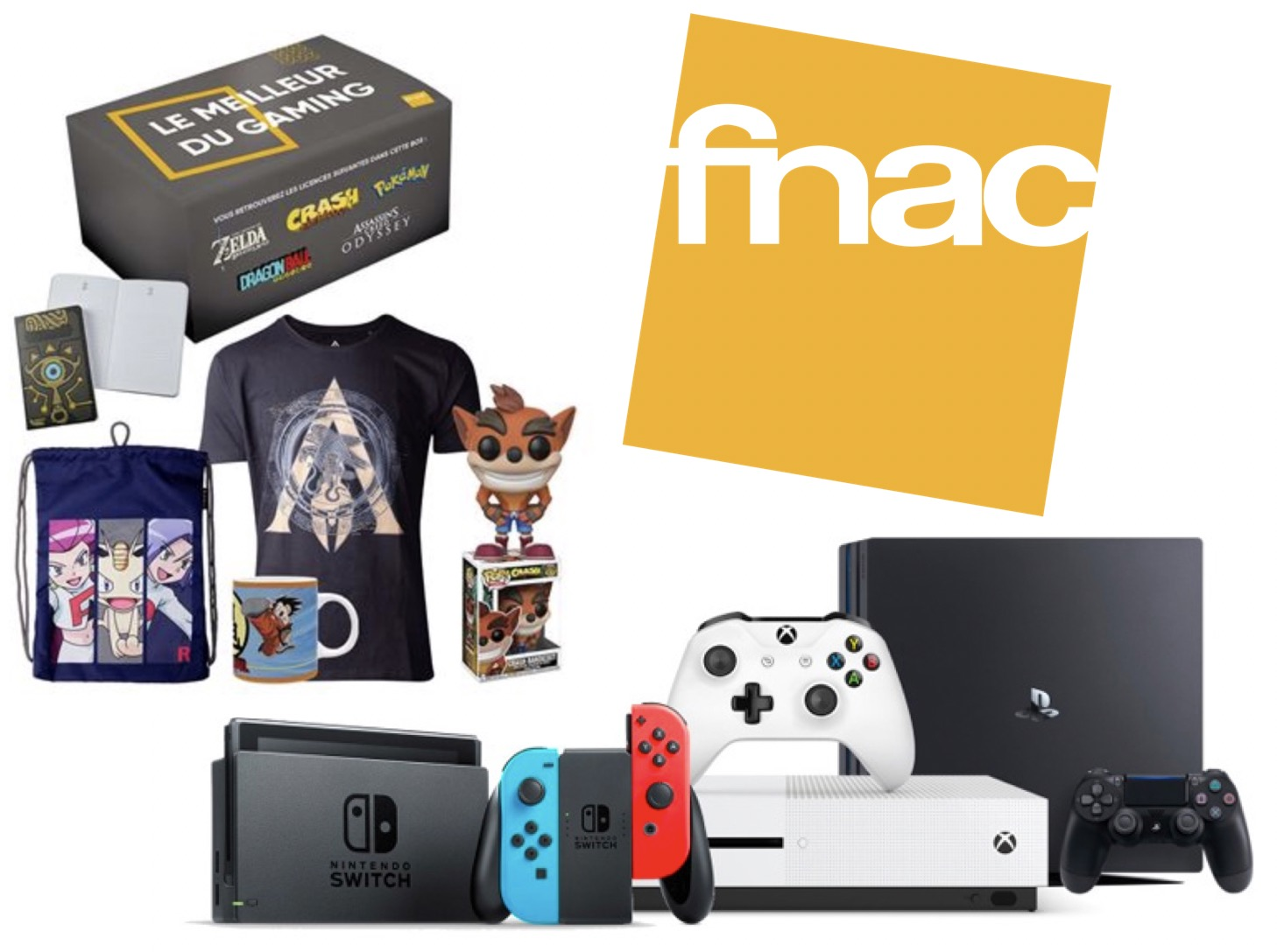 Code promo Fnac : Une Box Cadeaux Gaming offerte pour l'achat d'une console PS4, Xbox One ou Nintendo Switch