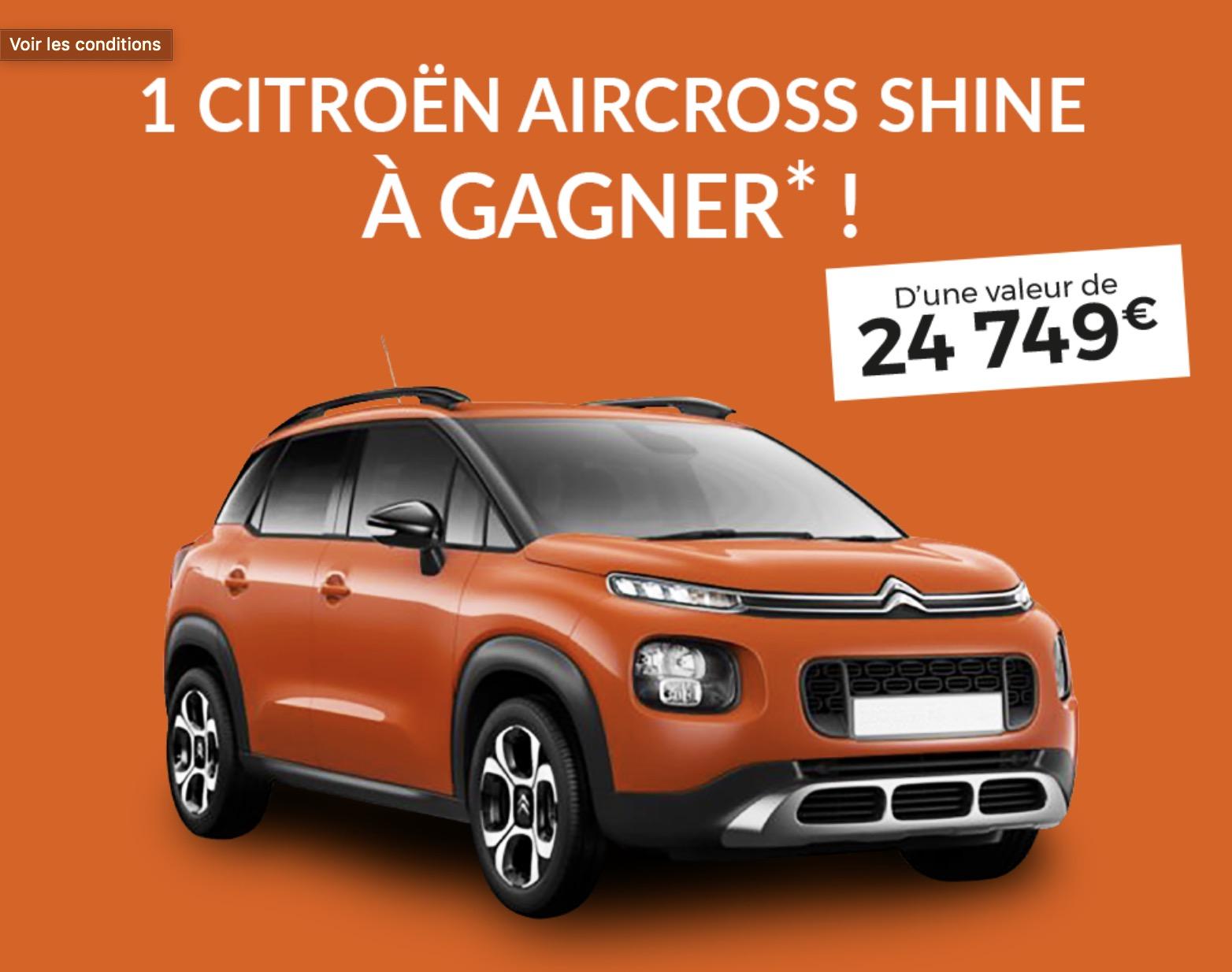 Code promo Blancheporte : Une voiture Citroën Aircross Shine d'une valeur de 24749€ à gagner