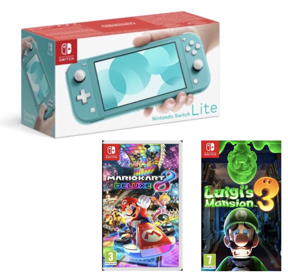 Code promo Fnac : 1 console Nintendo Switch Lite = -50% sur les jeux Luigis's Mansion 3 ou Mario Kart 8 Deluxe