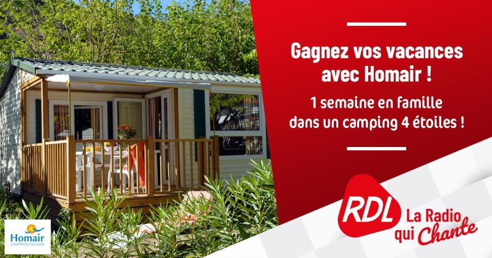 Code promo RDL RADIO : Un séjour Homair en famille dans un camping 4 étoiles