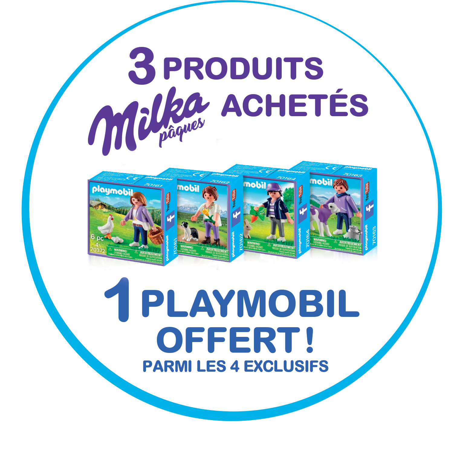 Code promo Milka : 3 produits Mika achetée = une boite de Playmobil offerte