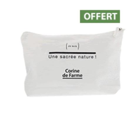 Code promo Corine de Farme : Une trousse de voyage en coton offerte dès 14,95€  d'achat