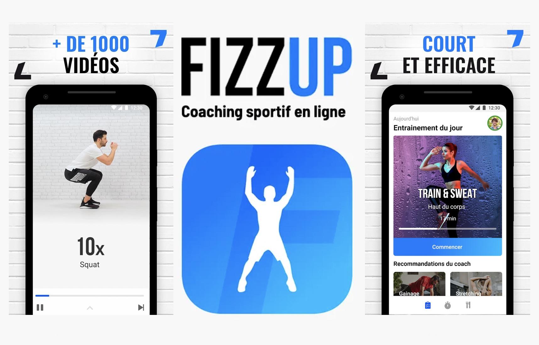 Code promo FizzUp : 1 mois d'abonnement Premium gratuit à l'application de coaching sportif FizzUp