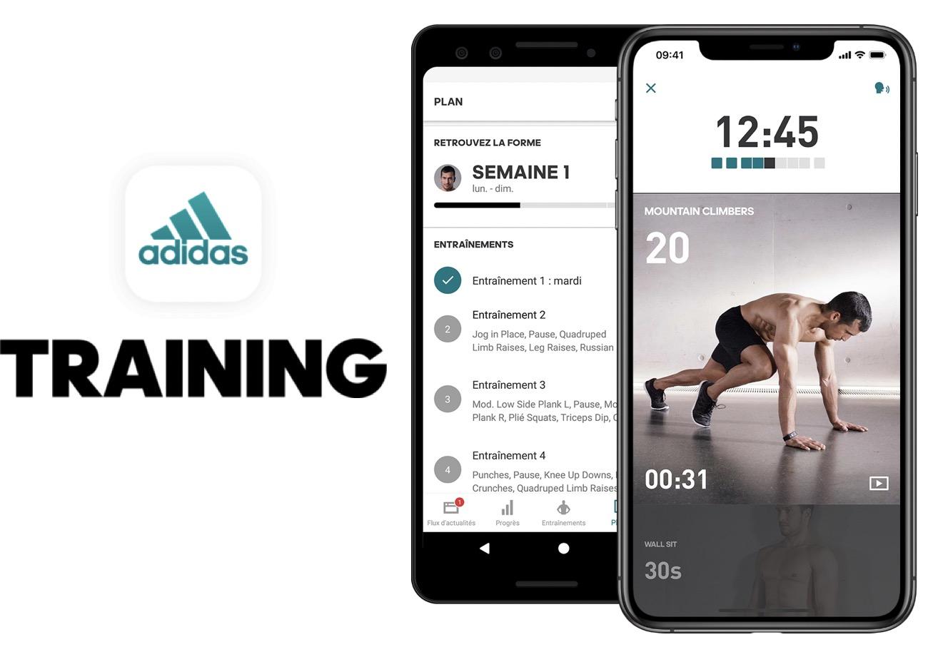 Code promo Adidas : 90 jours d'abonnement gratuits à l'application mobile de coaching sportif Adidas Training Premium