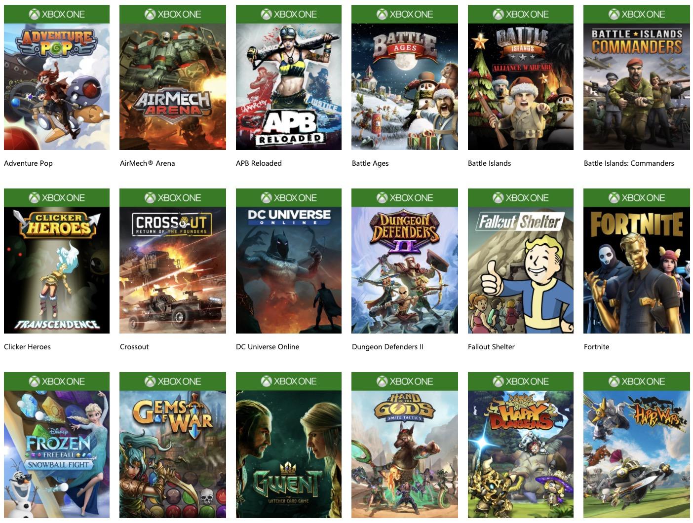 Code promo Xbox : Découvrez une large sélection de jeux gratuits sur Xbox One