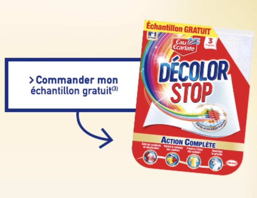 Code promo La Belle Adresse : 1 échantillon gratuit de lingettes Eau Ecarlate Décolor Stop Action Complète