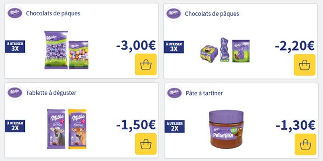 Code promo Ma vie en couleurs : Coupons de réduction à imprimer pour des chocolats de Pâques Milka