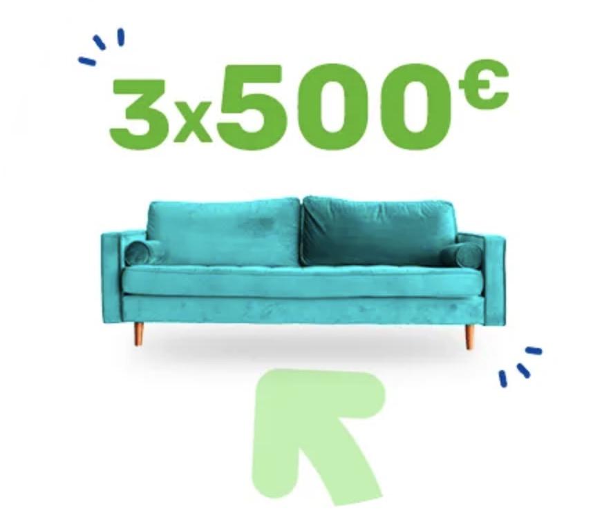 Code promo Rakuten : 3 x 500€ à gagner depuis votre canapé