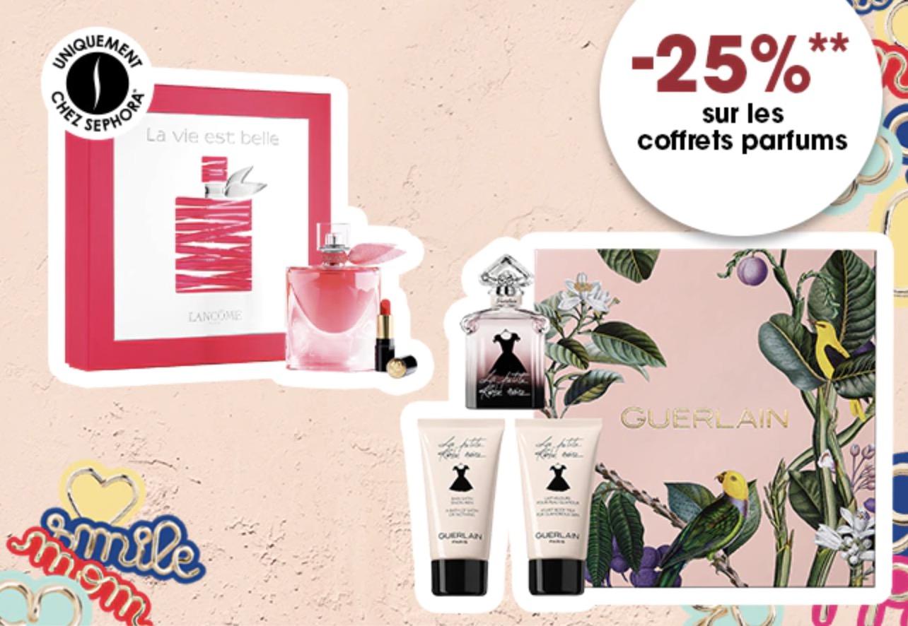 Code promo Sephora : 25% de réduction sur les coffrets parfums