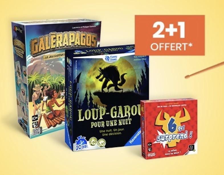 Code promo Cultura : 2 jeux de société achetés = le 3e offert sur une sélection