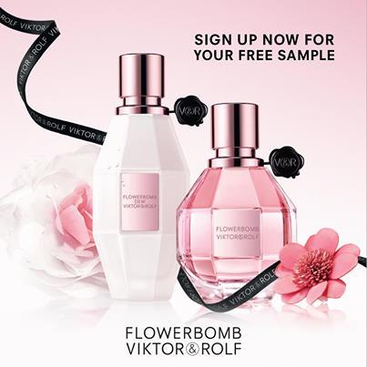 Code promo Viktor & Rolf : 1 échantillon de parfum Flowerbomb 1.2ml de Viktor&Rolf offert gratuitement