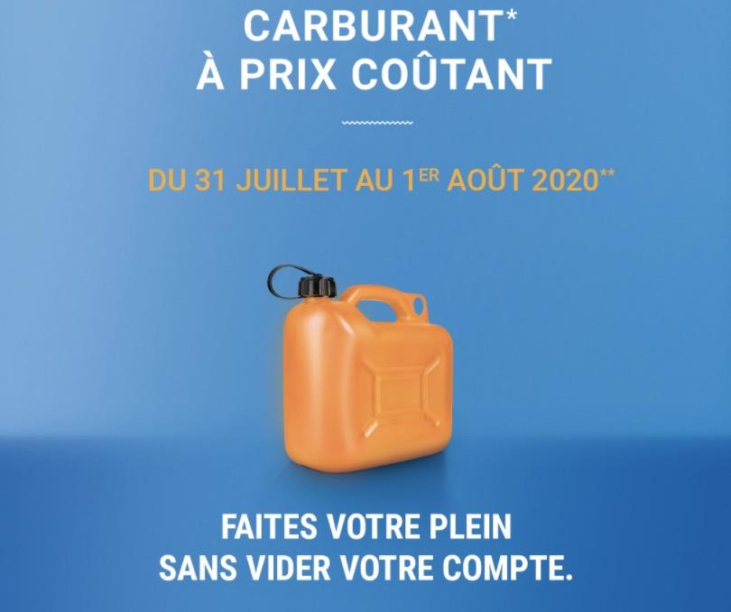 Code promo E.Leclerc : Carburant à prix coûtant jusqu'au 1er août inclus