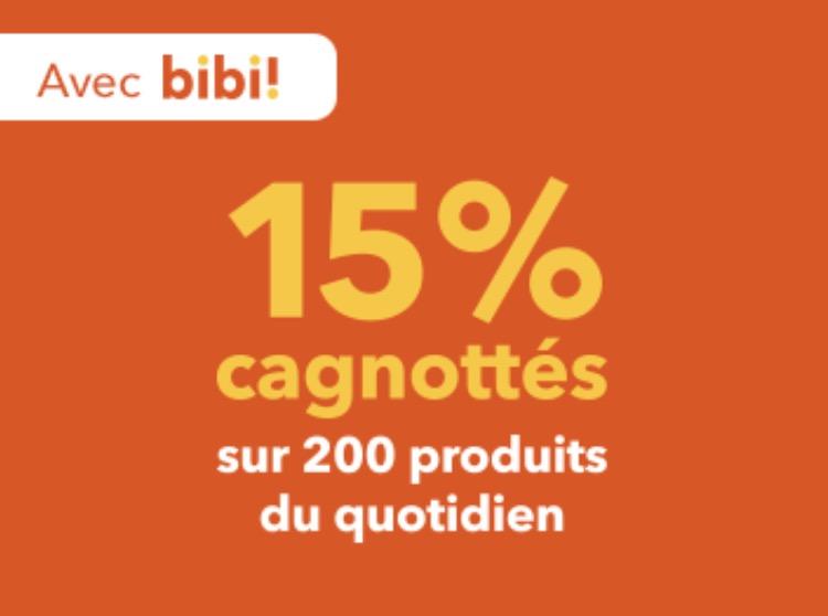 Code promo Franprix : 15% de remise cagnottés sur 200 produits du quotidien grâce au programme de fidélité bibi