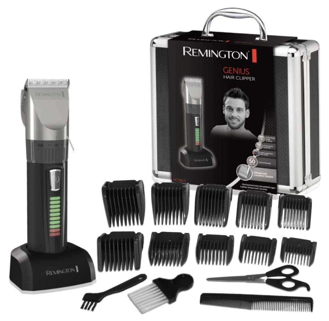 Code promo Amazon : Coffret tondeuse à cheveux Remington HC5810 avec 10 sabots à 38,99€