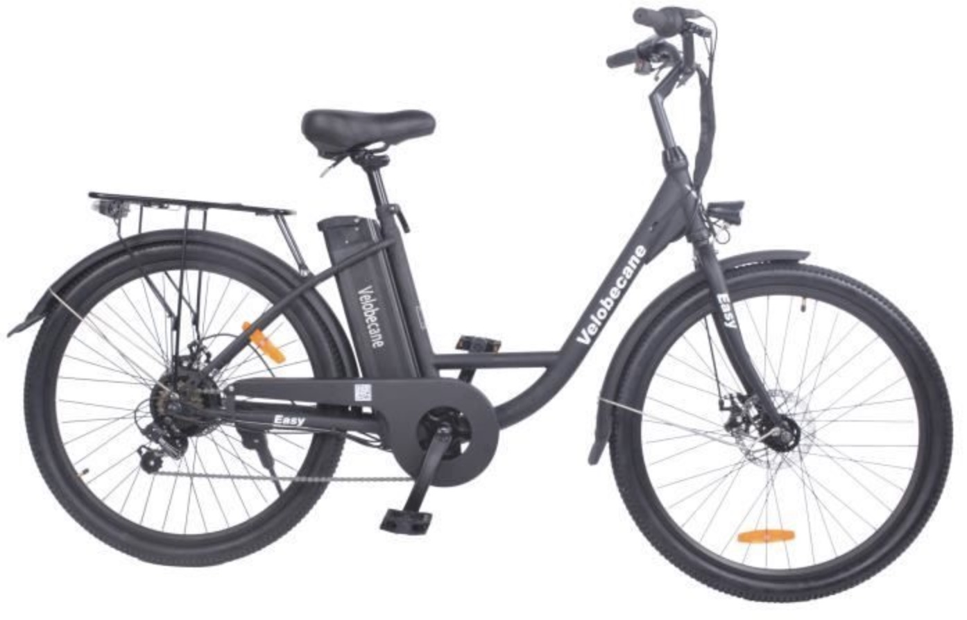Code promo Cdiscount : Vélo électrique 26' VELOBECANE - 7 vitesses- Freins à disque - autonomie 40km à 499,99€