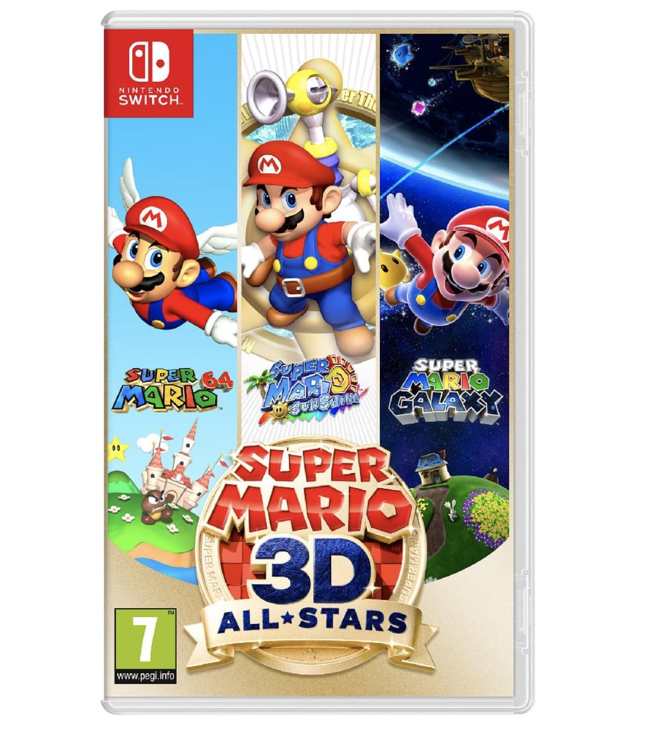 Code promo Auchan : Jeu Super Mario 3D All Stars sur Nintendo Switch à 46,99€