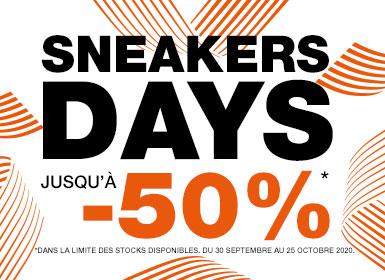 Code promo Courir : Sneakers Days : Jusqu'à -50% sur plus de 130 sneakers Nike, Adidas, Reebok, Converse, etc