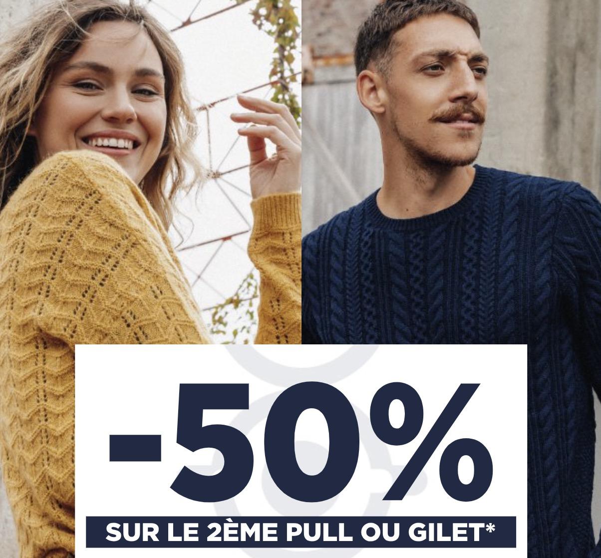 Code promo Bonobo Jeans : 1 Pull, Sweat ou Gilet Acheté = - 50% sur le 2ème